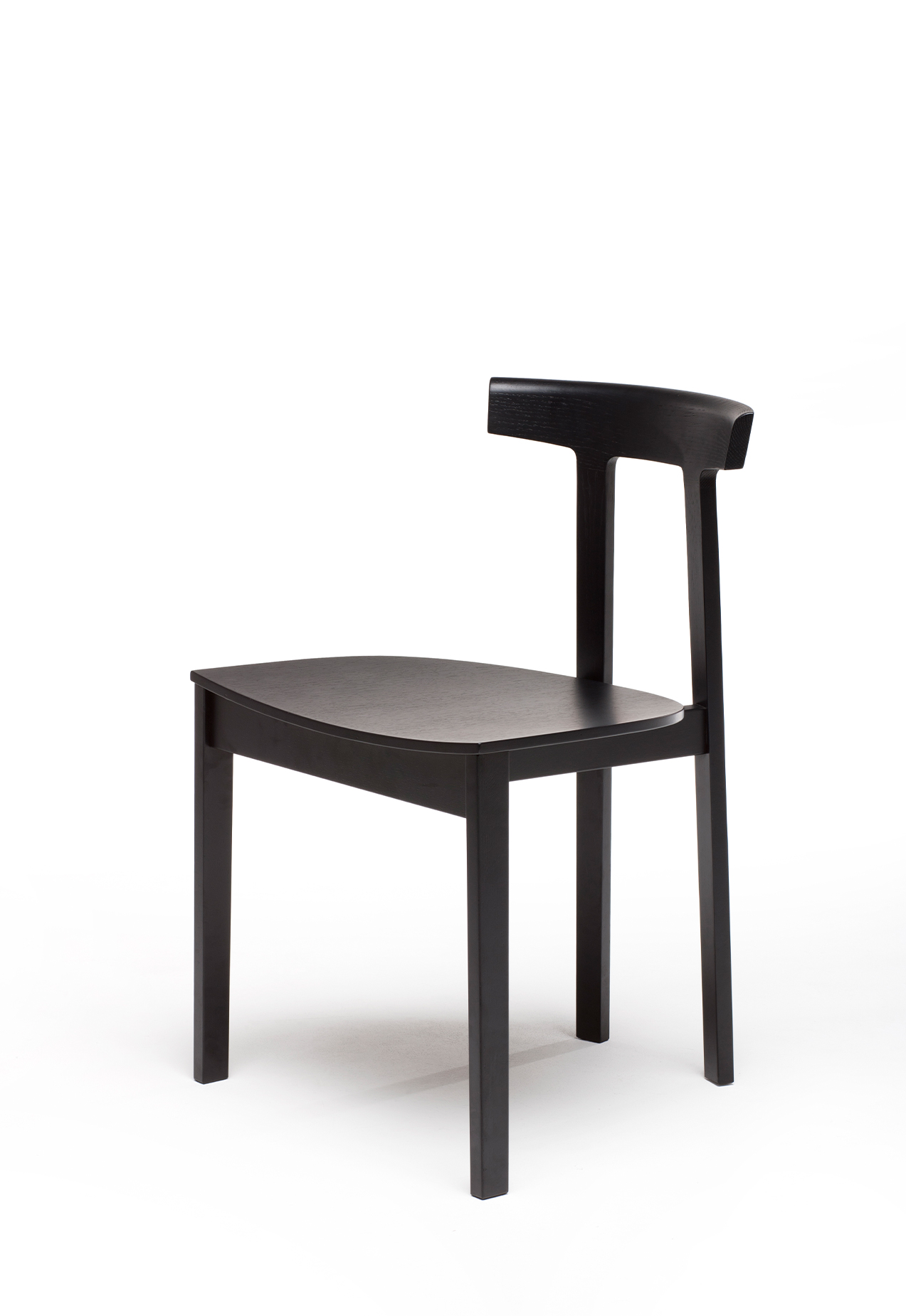 Torii Chair in black stained ash, plywood seat