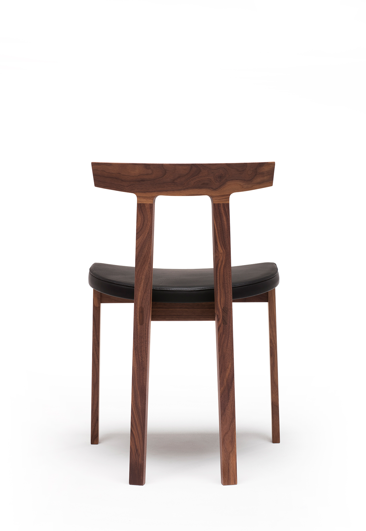 Torii Chair in walnut, black leather